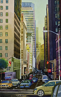 Painting - Lower Pine Street by Andre Salvador