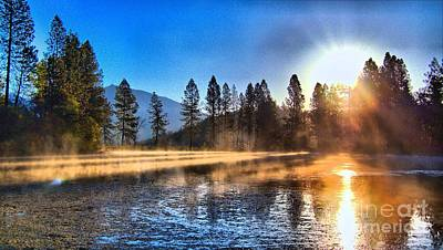 Photograph - Lower Pond Sunrise In Hdr by Julia Hassett