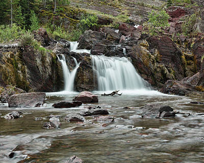 Photograph - Lower Red Rocks Falls by Jemmy Archer