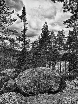 Photograph - Lower Ritajarvi Bw by Jouko Lehto