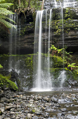 Photograph - Lower Russell Falls Tasmania  by Odille Esmonde-Morgan