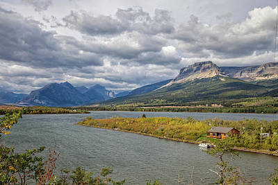 Photograph - Lower Saint Mary Lake by Ronald Lutz