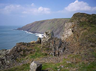Photograph - Lower Sharpnose Point From Steeple Point Duckpool Cornwall by Richard Brookes