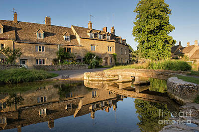 Lower Slaughter Cotswolds Art Print