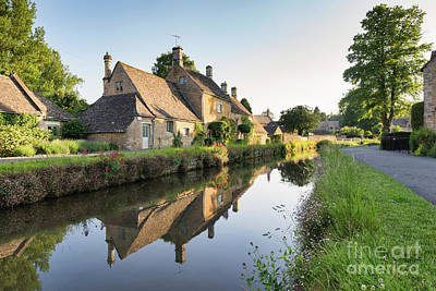 Photograph - Lower Slaughter Evening Sunlight by Tim Gainey