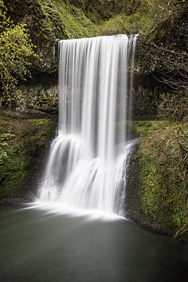 Photograph - Lower South Falls In Silver Falls State Park by John McGraw