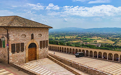 Photograph - Lower Square And Umbrian Countryside by Carolyn Derstine