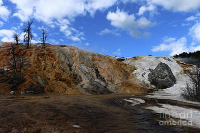 Photograph - Lower Terraces At Mammoth Hot Springs by Christiane Schulze Art And Photography