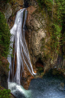 Jmp Photograph - Lower Twin Falls by James Marvin Phelps