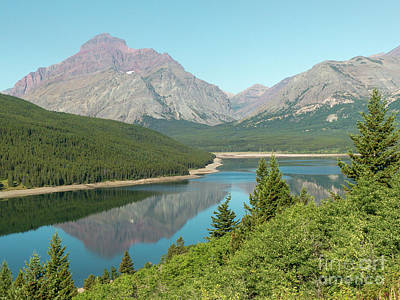 Photograph - Lower Two Medicine Lake Reflections by Rod Jones
