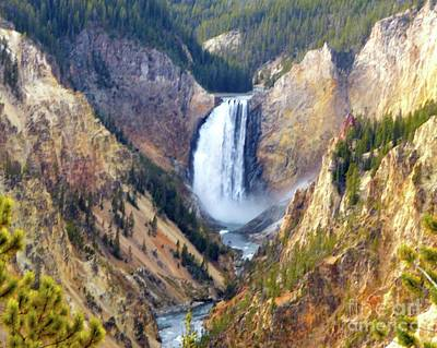 Photograph - Lower Yellowstone Falls by Jean Wright