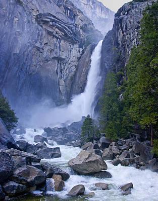 Yosemite Np Photograph - Lower Yosemite Falls 1.1 by Patrick O'Brien
