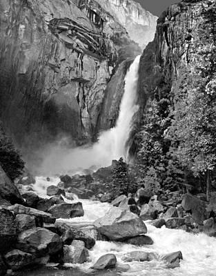 Yosemite Np Photograph - Lower Yosemite Falls 1.2 by Patrick O'Brien