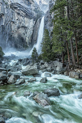 Photograph - Lower Yosemite Falls by Belinda Greb