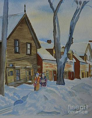 Lowertown Painting - Lowertown Scene No. 2 by Lise PICHE
