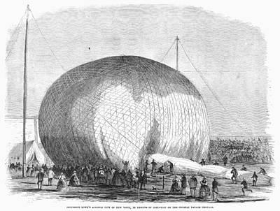 Lowes Balloon, 1859 Art Print by Granger