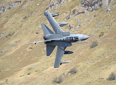 Photograph - Lowflying Tornado In The Welsh Hills 01 by Barry Culling