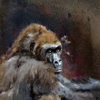 Painting - Lowland Gorilla by Mandy Tabatt