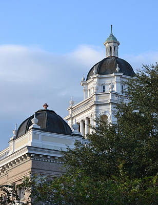 Photograph - Lowndes County Courthouse Dome by rd Erickson