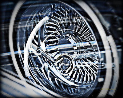 Photograph - Lowrider Wheel Illusions 1 by Walter Herrit