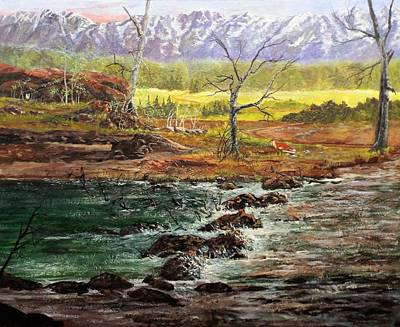 Painting - Lowwater Crossing  by Michael Dillon