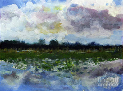 Painting - Loxahatchee Reflections by Donna Walsh