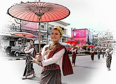 Photograph - Loy Krathong Parade by Ian Gledhill