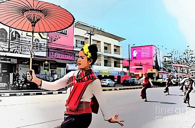 Photograph - Loy Krathong Street Parade by Ian Gledhill