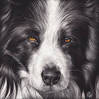 Loyal Companion Art Print by Elena Kolotusha
