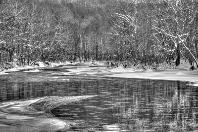 Photograph - Loyalhanna Creek Bw - Wat0097 by G L Sarti