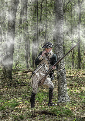 Seven Years War Digital Art - Loyalist Skirmisher  American Revolution by Randy Steele