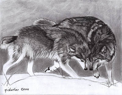 Pastel - Loyalty Wolves by Michaeline McDonald