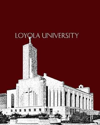 Digital Art - Loyola University Version 1 by DB Artist