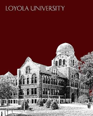 Digital Art - Loyola University Version 2 by DB Artist
