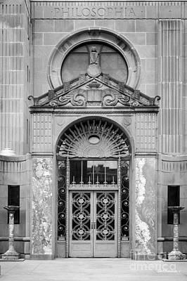 Catholic University Photograph - Loyola University Strada Chapel Doorway by University Icons