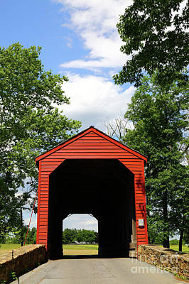 Old Country Roads Photograph - Loys Station Covered Bridge Maryland by James Brunker