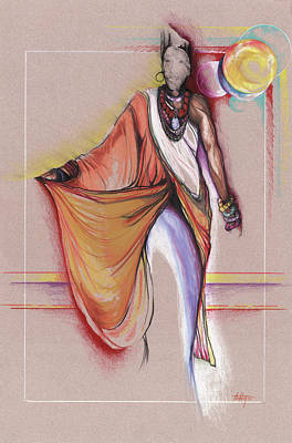 Lpr Black Woman Art Print by Anthony Burks Sr