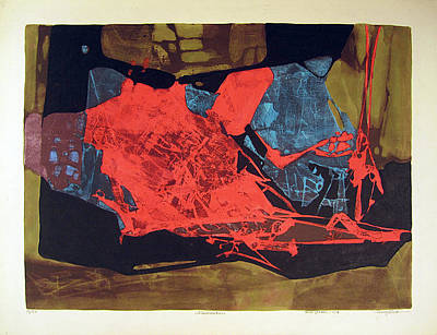 Intuition Painting - Ls1964ny001 12-16 Ilumination 21.5x15.75 by Alfredo Da Silva