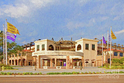 Lsu Championship Plaza Art Print by Scott Pellegrin