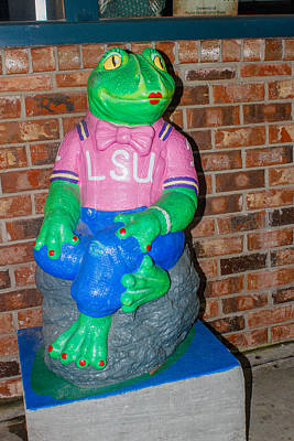 Photograph - Lsu Frog by Robert Hebert