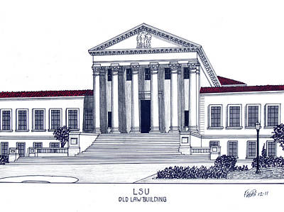 Drawing - Lsu Old Law Building by Frederic Kohli