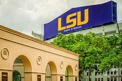 Photograph - Lsu Stadium And Mike Tiger Habitat by Kathleen K Parker