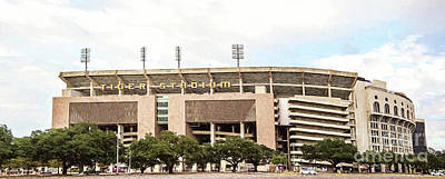 Photograph - Lsu Tiger Stadium Panorama - Pov 1 Digital Painting by Scott Pellegrin
