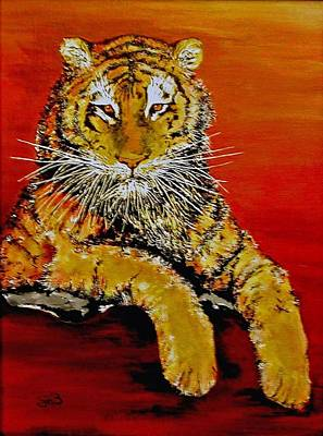 Louisiana State University Painting - Lsu Tiger by Stephen Broussard