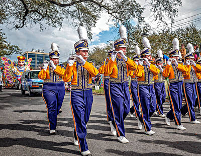 Louisiana State University Photograph - Lsu Tigers Band 5 by Steve Harrington