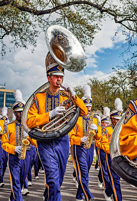 Louisiana State University Photograph - Lsu Tigers Band 6 by Steve Harrington