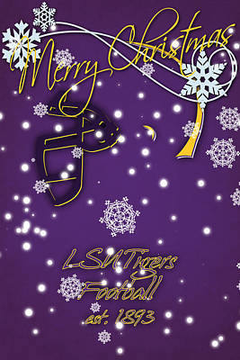 Lsu Tigers Christmas Card Print by Joe Hamilton