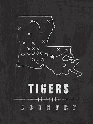 Lsu Tigers Country Art Print by Damon Gray