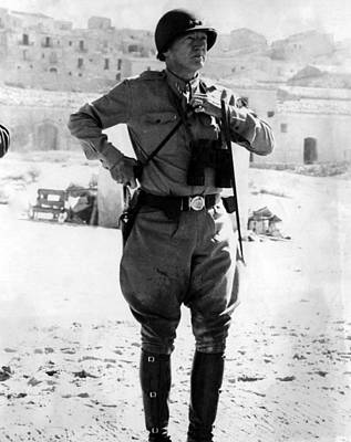 Ev-in Photograph - Lt. General George Patton, Sicily, 1943 by Everett