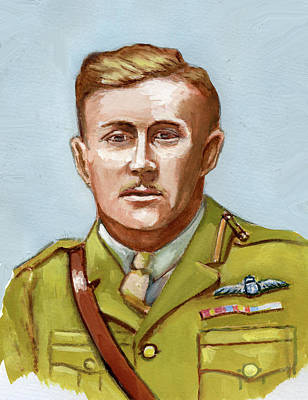 World War 1 Portraits Painting - Lt.col. William Bishop by Murray McLeod